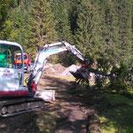 Waldbad Lech - Leitungen freigraben