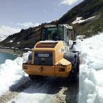 Lader 524, Schneeräumung Spullersee
