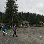 Abbau Fußballplatz im Waldbad