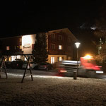 Abendlicher Splittdienst am Omesberg
