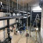 Elektrikerarbeiten in den Technikräumen