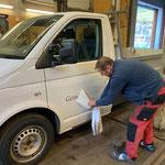 VW Pritsche nach Rundumerneuerung neu bekleben