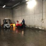 Bauhofgarage aufräumen und reinigen