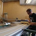 Reparaturarbeiten in der Tischlerei, Geländer Mesmerstall