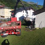 Brunnen Bergkirche Zürs, Aufräumarbeiten