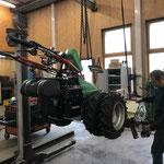 Rapidmulcher reparieren, Werkstatt