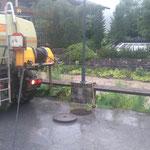 Fäkalkanal Schlegelkopf Talstation spülen