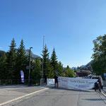 Banner hängen Lech Classic Festival