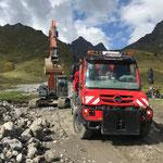 Material laden für Wegschüttung Seekopf-Hexenboden