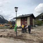 22. Mai: Baubesprechung mit Spielplatzbauer und Landschaftsarchitektin