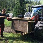 Forstarbeiten nach Brand Heizwerk Lech