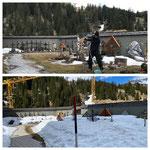 Alle Jahre wieder: Schneevergleich! 2020 vs. 2021, KW 17