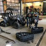Sportsman ACE - Quad, Raupenfahrwerk gegen Reifen tauschen