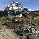 ...für Baustellenfertigstellung Hochwasserschutz am Omesberg