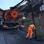 Mitarbeit bei Kanalspülarbeiten der Fa. Hartmann