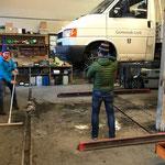 Schneekettenreparatur VW Pritsche