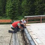 Waldbad Kinderbecken, Liegenaufgang Reparatur