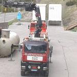Kinderbecken neu: Aufladen Überlauftank, mit Transporte Elsensohn