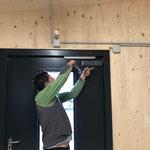 Arbeiten im neuen Schopf Feuerwehrhaus