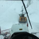 Schneeräumung L198 Richtung Zürs, mit Lader 509 und Steyr 6175 CVT