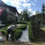 Arbeiten am Lech-Hügel