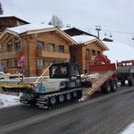 Transport zum Burgwaldweg mit U1600 und Bigabhänger