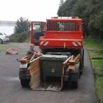 Mülldienst Spuller/Formarinsee, mit U1600 und Containerhänger