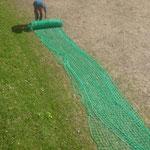 Fußballplatznetze aufhängen