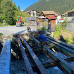 Ziel: Verstärkung der Traglast für Bauarbeiten Lawinen- und Wildbachverbauung Baustelle Zürsbach