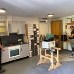 Rückbau Kameradschaftsraum nach Einbau Fußboden