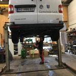 Service am VW Van