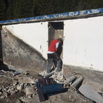 Waldbad Lech - Schremmarbeiten Technikraum