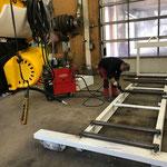 Rahmenbau für mobile Schneeanlage
