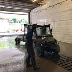 Fahrzeugpflege in der Waschhalle, Polaris Sportsman ACE