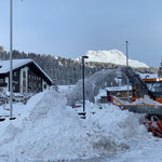 Schneedepot fräsen Dorfbrunnen