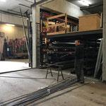Eisenlager aufräumen am Bauhof