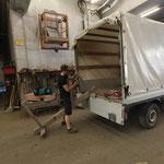 Waldbad Aschenbecherständer sanieren und reinigen vor Auslieferung