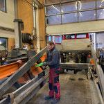 Reparatur- und Servicearbeiten am Jäckle Containerhänger