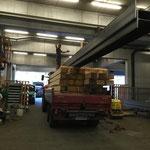 Material laden am Bauhof