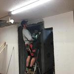 Umbau Feuerwehrhaus, Lifteinbau-Vorbereitungen