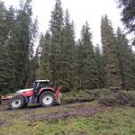 Forstarbeiten Chalberläger, mit Steyr 6190 CVT und 6240 CVT