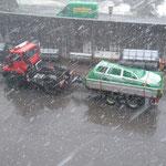 Feuerwehr Lech Übungsauto Entsorgungsfahrt zur Firma Loacker-Retourfahrt Holztransport für Infopoint und Spielplätze