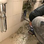Schremmarbeiten im Feuerwehrhaus, WC-Anlagen Feuerwehr