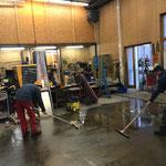 Bauhof Werkstatt - Bodenreinigung