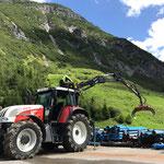 Rohrlager neu am Bauhofdach: erste Vorbereitungsarbeiten