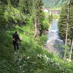 Bruchhalde Wanderwege ausmähen