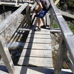 Spullerbachbrücke Geländer montieren