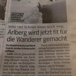 Zeitungsartikel über die Fräsarbeiten zur Freiburger Hütte, ÖSTERREICH