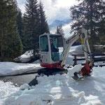 TB 216, Schneeräumarbeiten im Waldbad