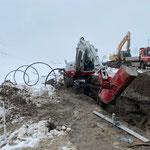 Skiweltcuprennen Zürs, Leitungsarbeiten